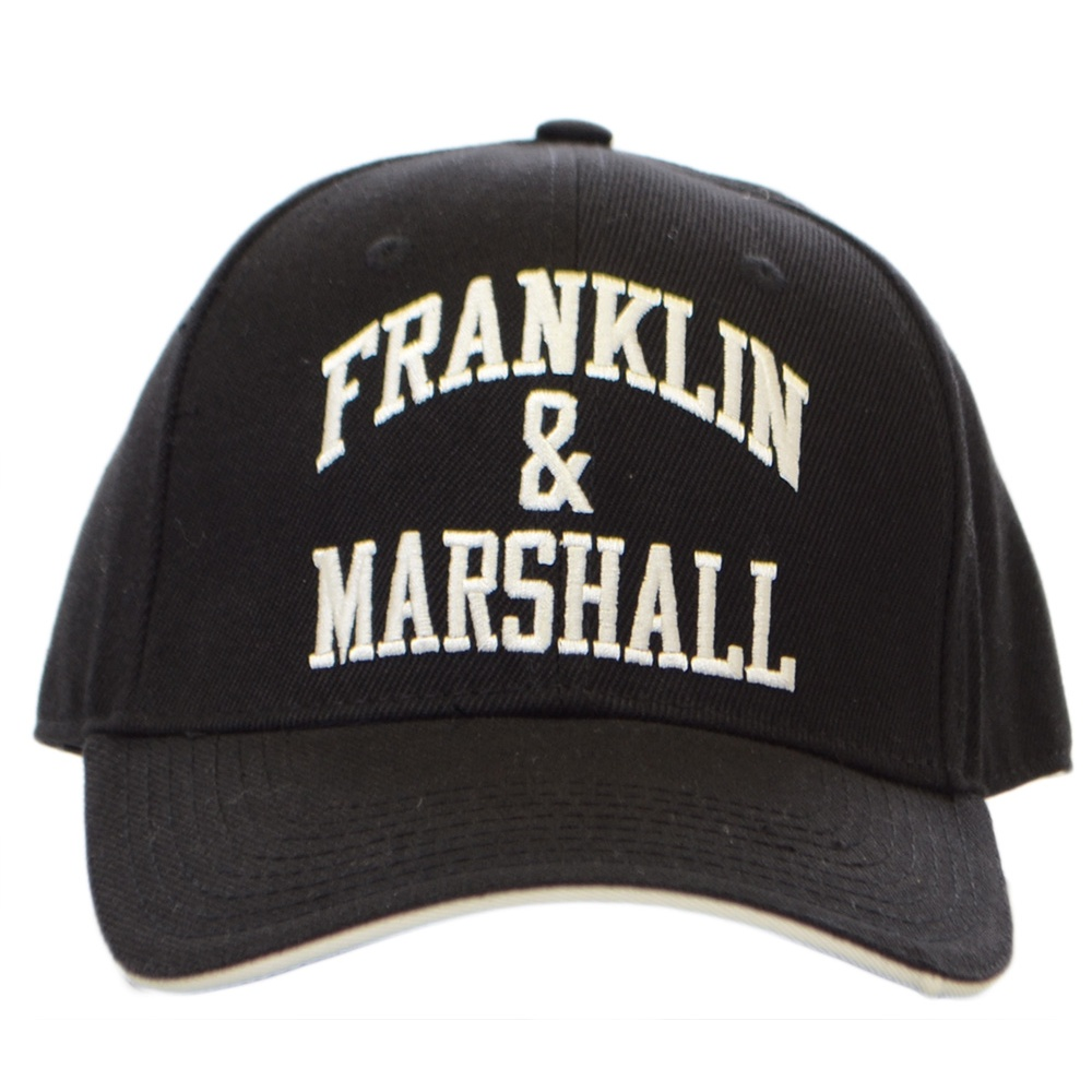 Franklin   Marshall Unisex Black Arch Logo Cap - Accessories from ... 92f1bb82907