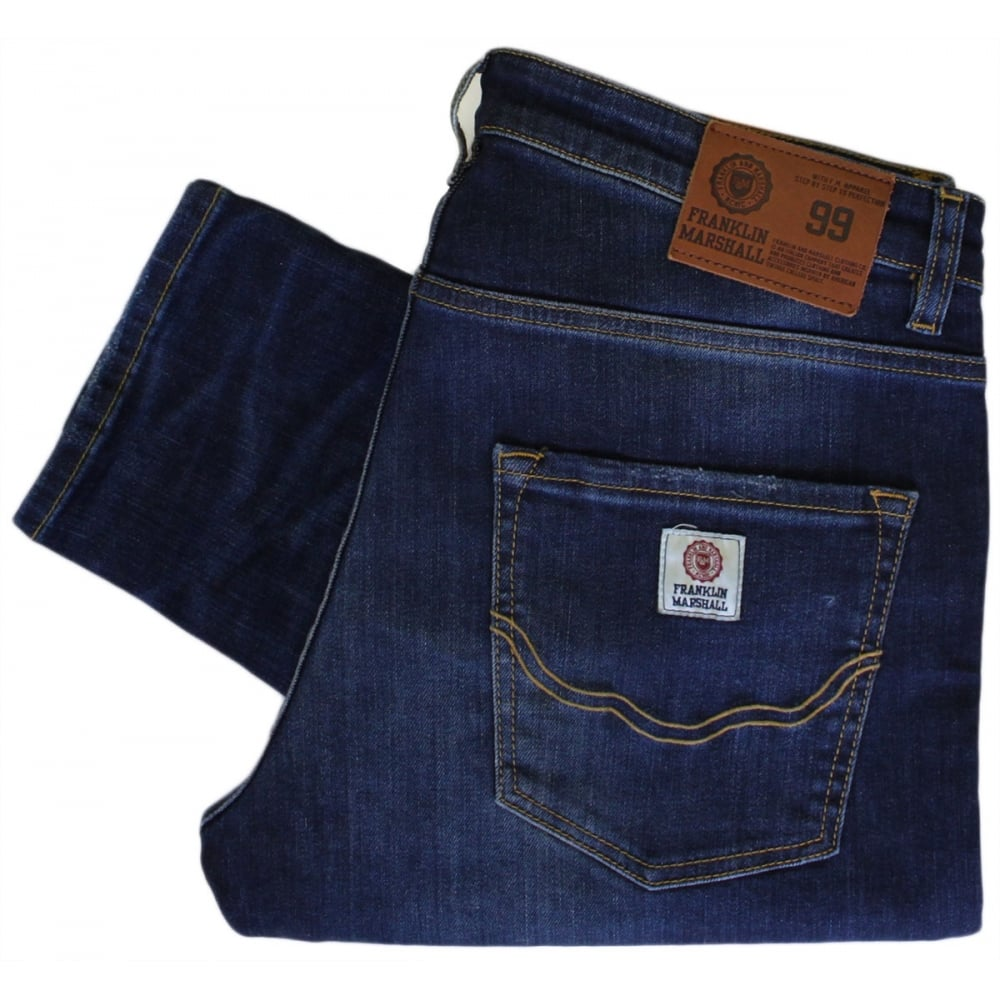 new concept 0ef7d 48d03 Franklin & Marshall VA376 Long Beach Old Wash Slim Fit Jeans