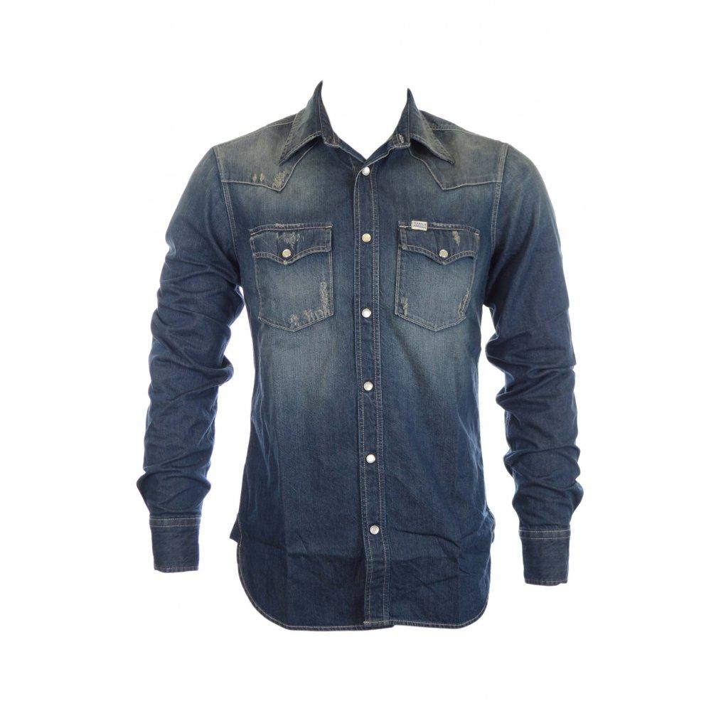 new concept 647b3 e473e Franklin & Marshall Wayne Denim Shirt