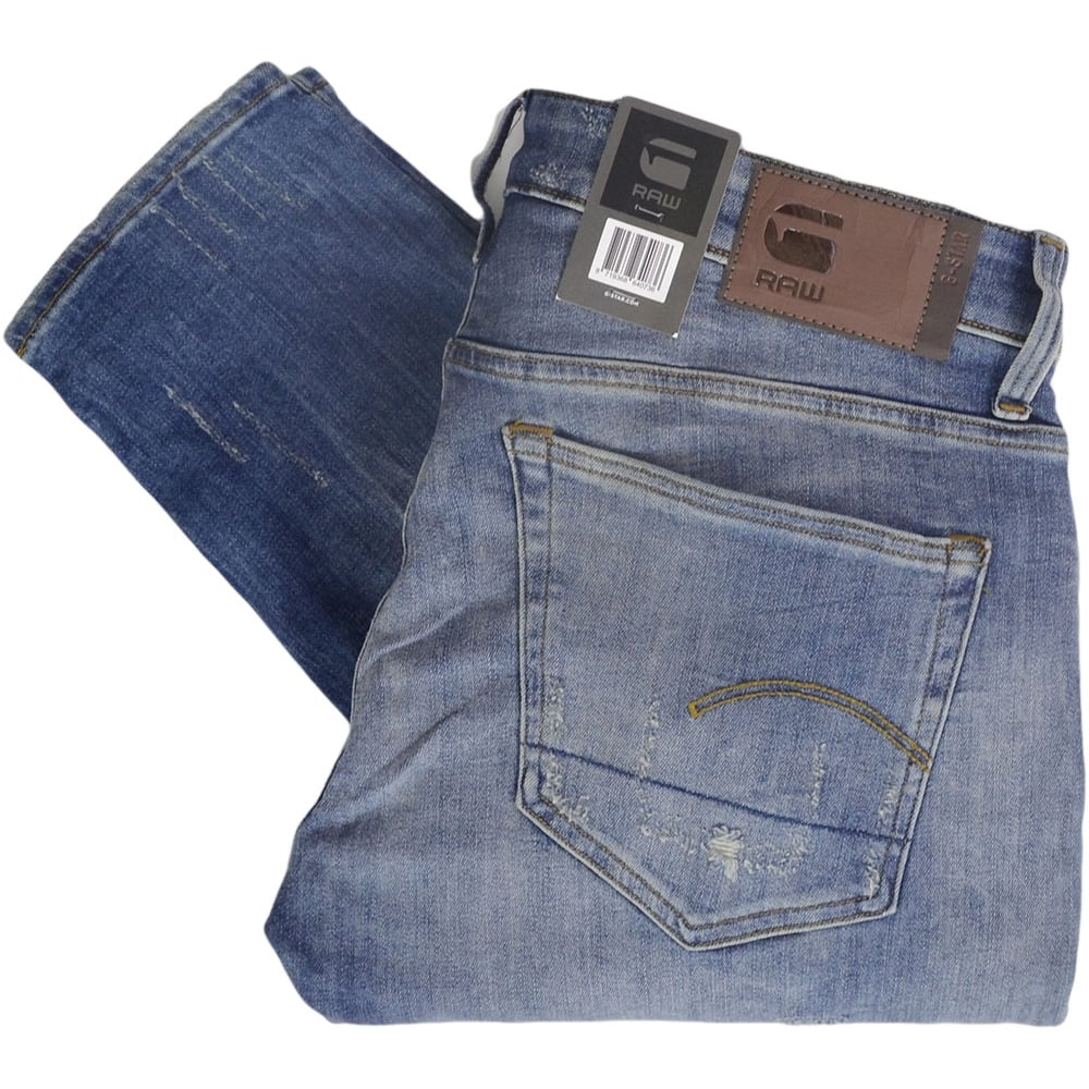 3754478a9fb G-Star 3301 Deconstructed Medium Aged Super Slim Fit Jeans ...