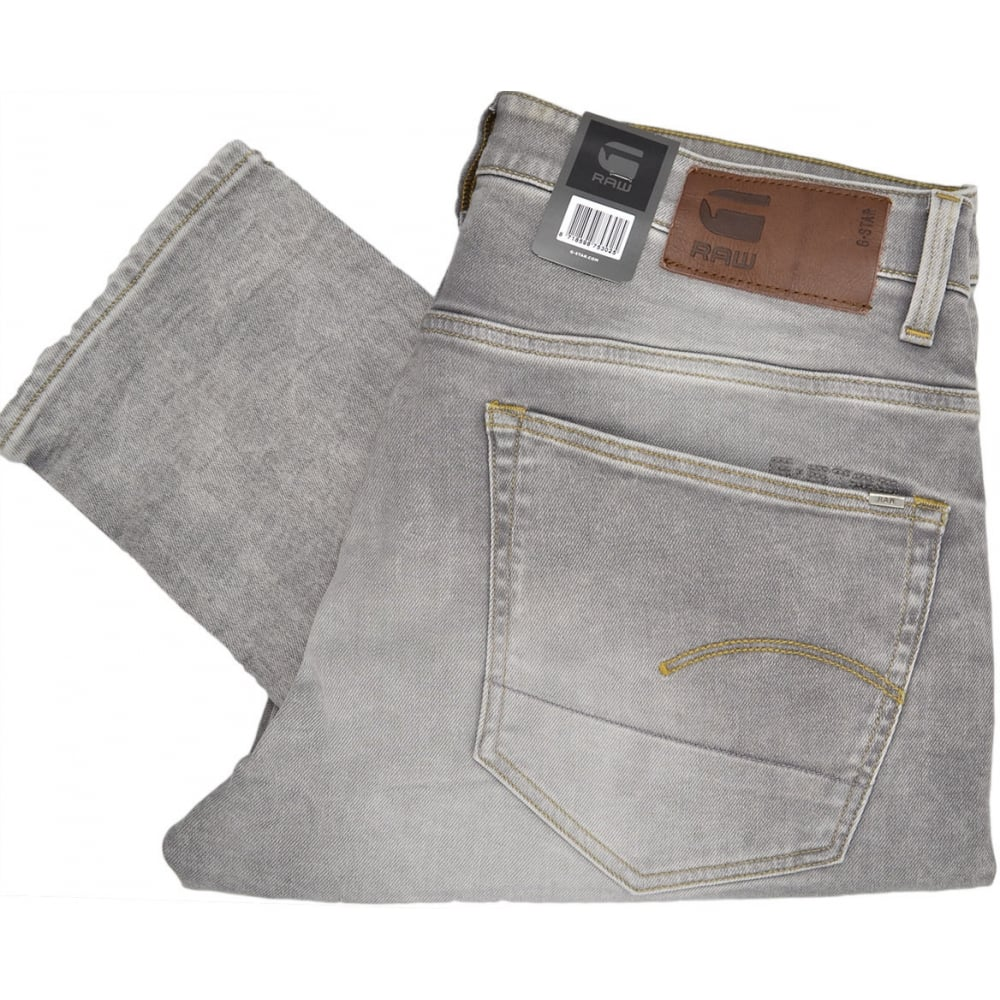 8adcd2ff1f7 G-Star 3301 Tapered Kamden Grey Light Stretch Jeans - Clothing from ...