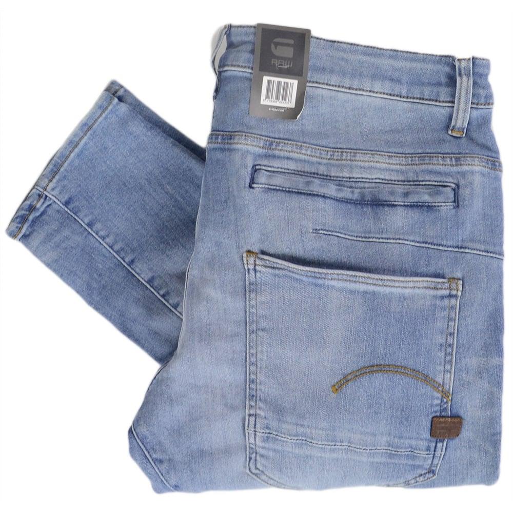 432a8d0a6f8 G-Star D-Staq 3D Super Slim Light Indigo Stretch Jeans - Clothing ...