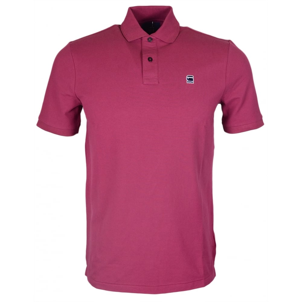 77291244d04 G-Star Dunda Premium Stretch Fit Purple Polo Shirt - Clothing from ...