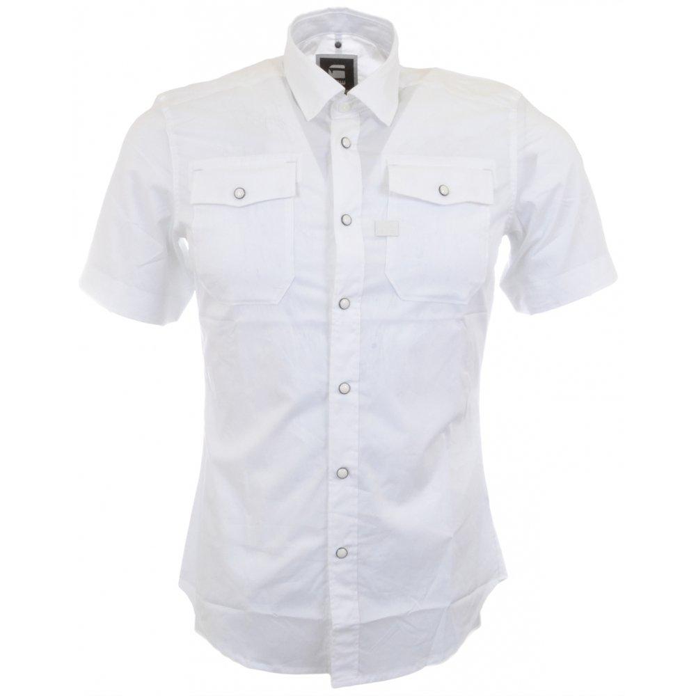 05152b05a0b G-Star Landoh Short Sleeve White Shirt - Clothing from N22 Menswear UK