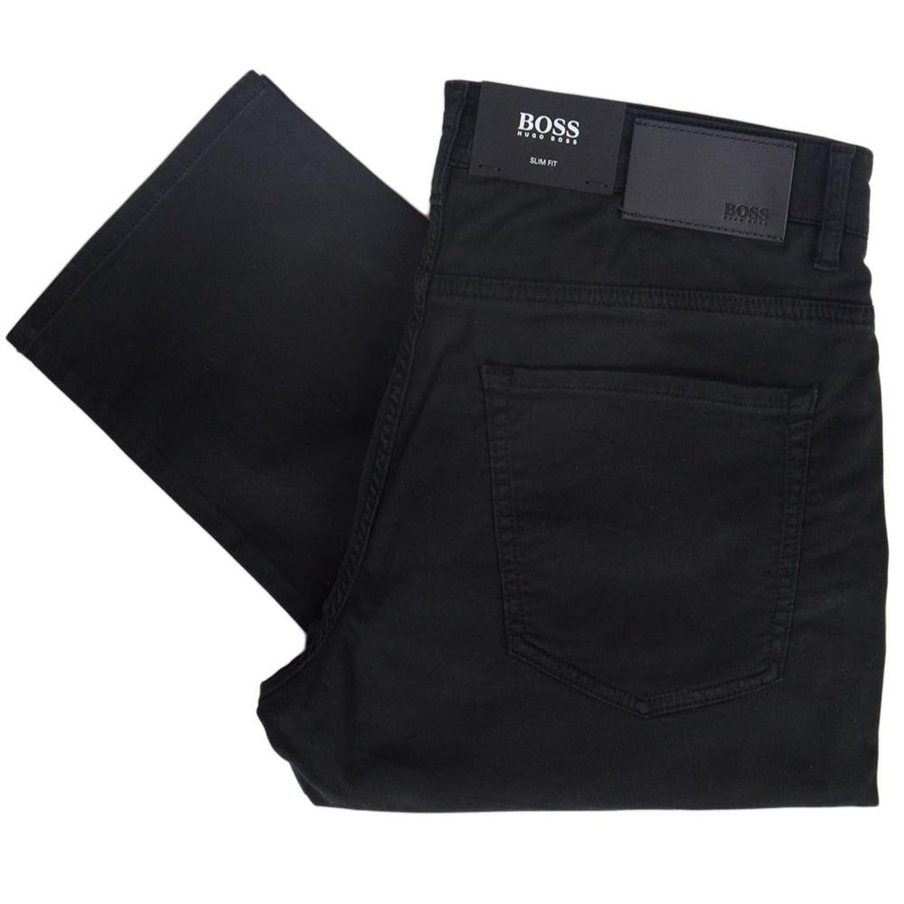 cf00d5ce Hugo Boss 50384581 DELAWARE Slim Fit Jet Black Jeans - Clothing from ...