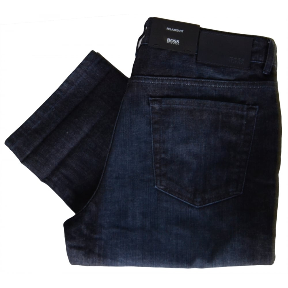 Hugo Boss Boss Mens Albany Relaxed Fit Jeans