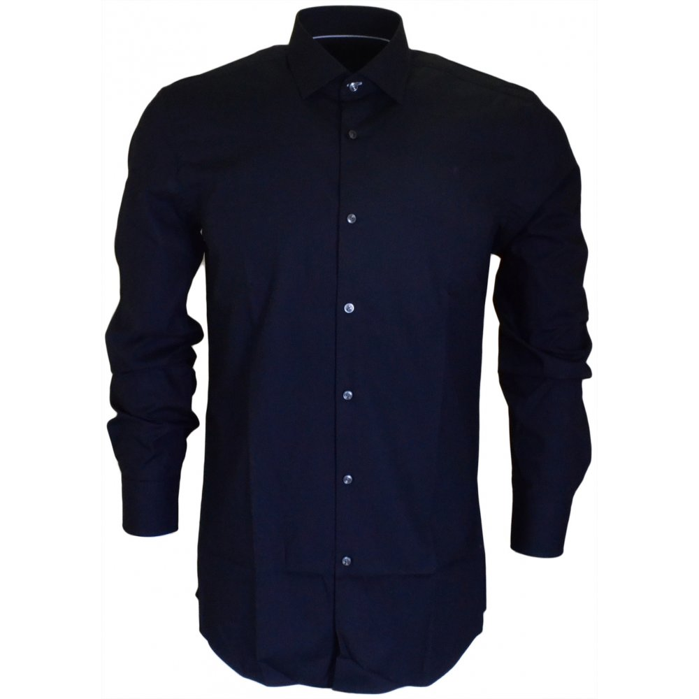 31bab67ec3f Joey Long Sleeve Slim Fit Navy Shirt - Clothing from N22 Menswear UK