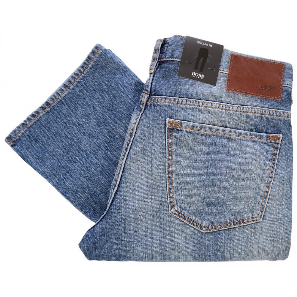 online shop first rate competitive price Hugo Boss Black Label kansas Regular Fit Light Wash Jeans