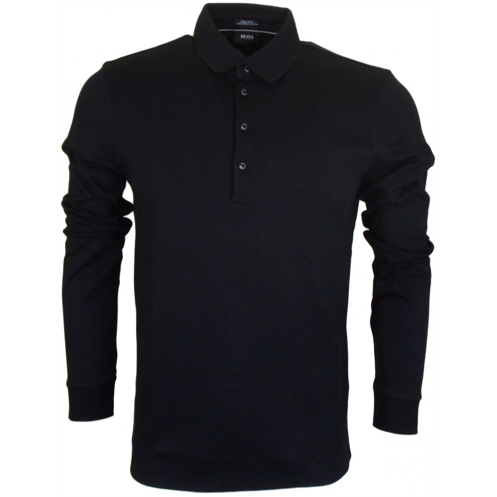 d486826c4 Paderna 30 Long Sleeve Regular Fit Black Polo - Clothing from N22 Menswear  UK