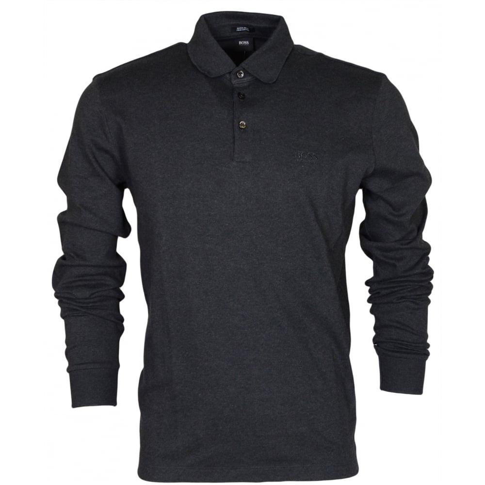 f3926c604 Phillian Long Sleeve Regular Fit Dark Grey Polo - Clothing from N22  Menswear UK