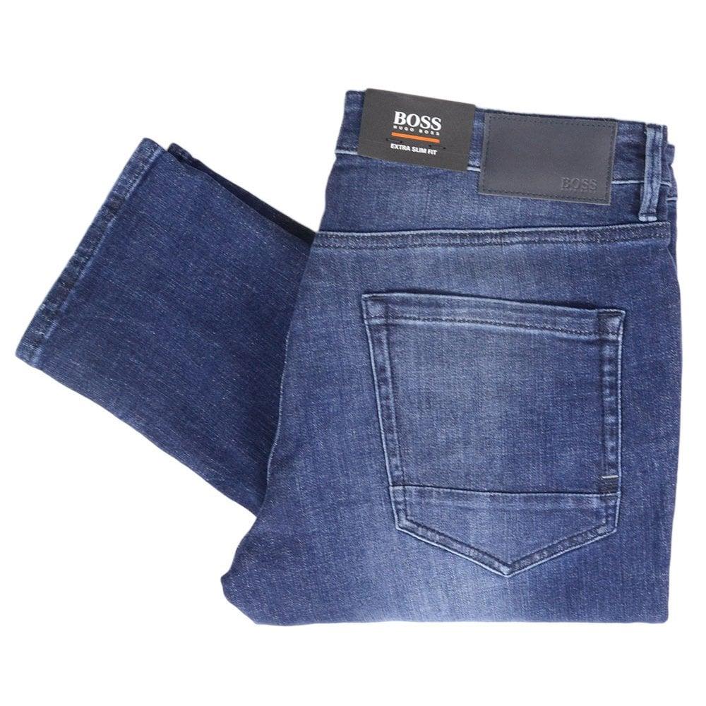 Hugo Boss Charlestone Extra Slim Fit Dark Blue Jeans