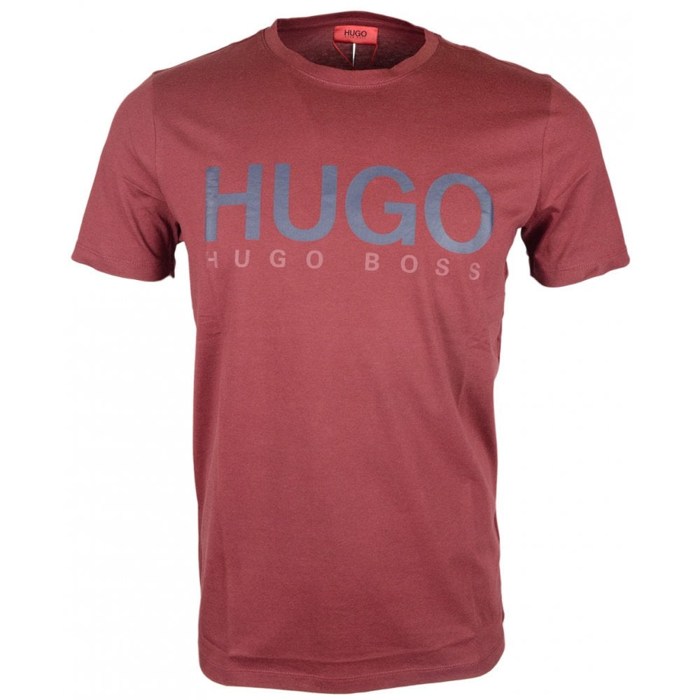 Hugo Boss Dolive U3 Regular Fit Burgundy T-Shirt