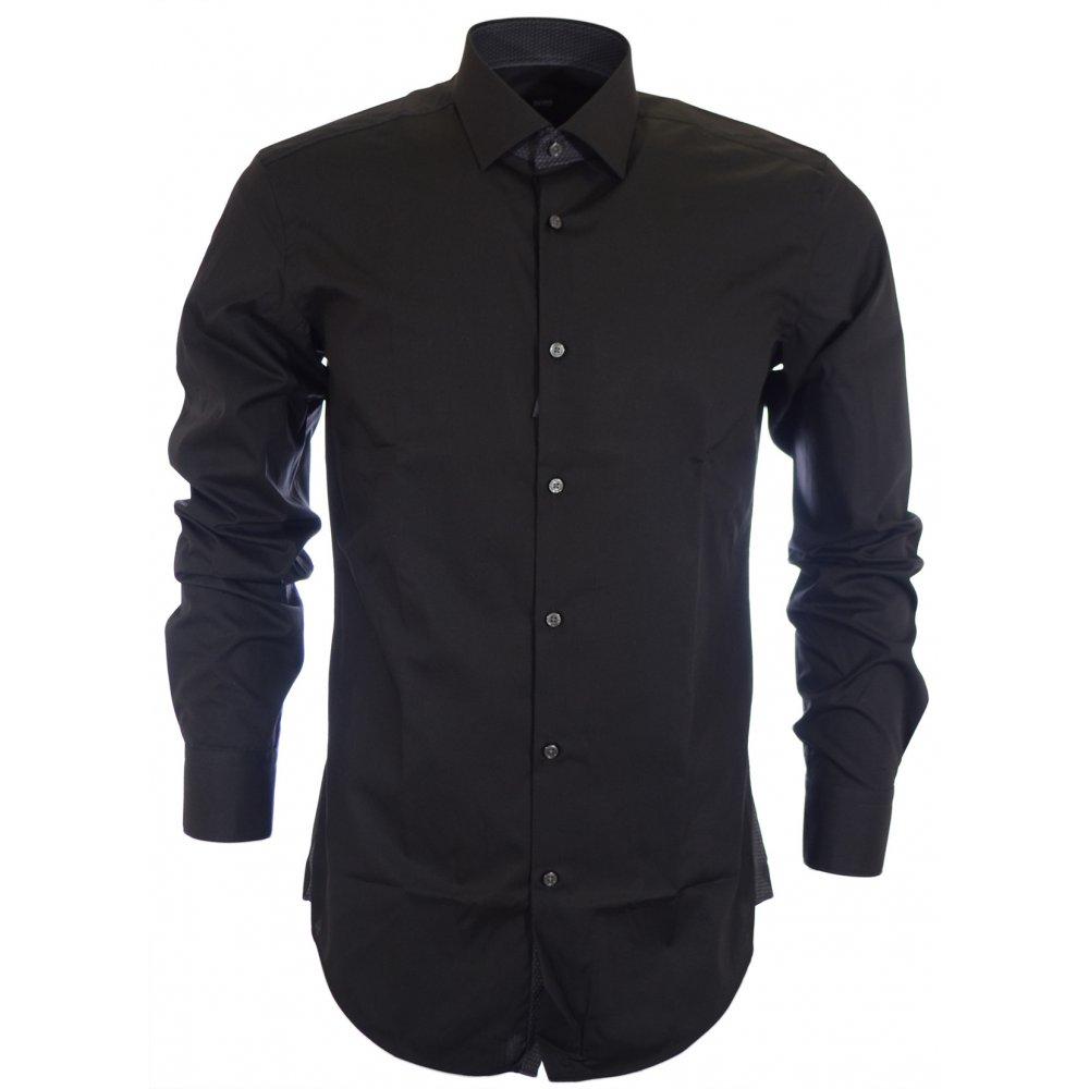 5bef789c01 Hugo Boss Easy Iron Juri Slim Fit Black Shirt - Clothing from N22 ...