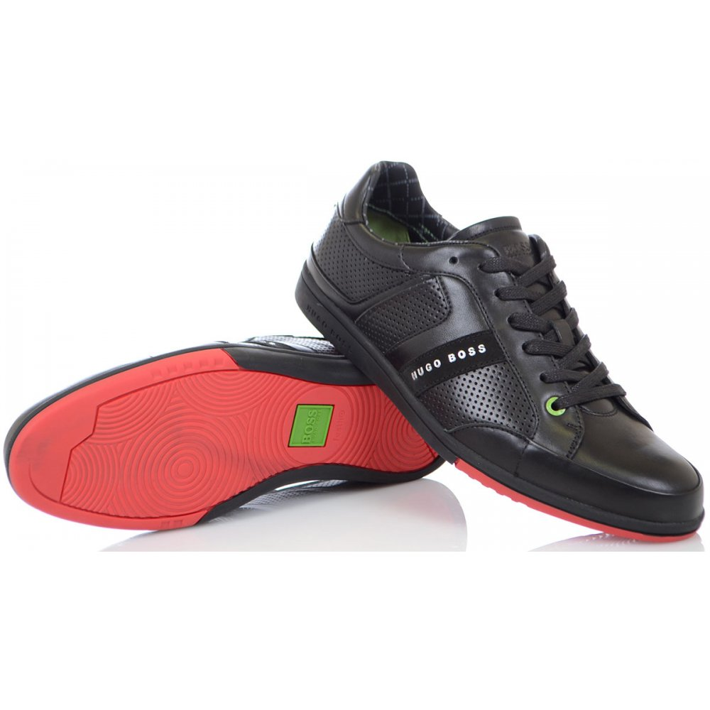 0efb8cdaa3c Hugo Boss Footwear Green Eldorado Clay Black Trainer - Footwear from ...