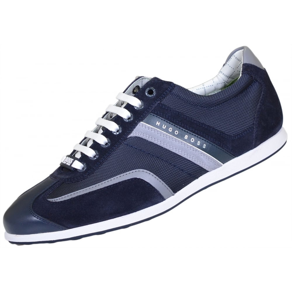 real deal new list new style Hugo Boss Footwear Green Stiven Navy Trainer