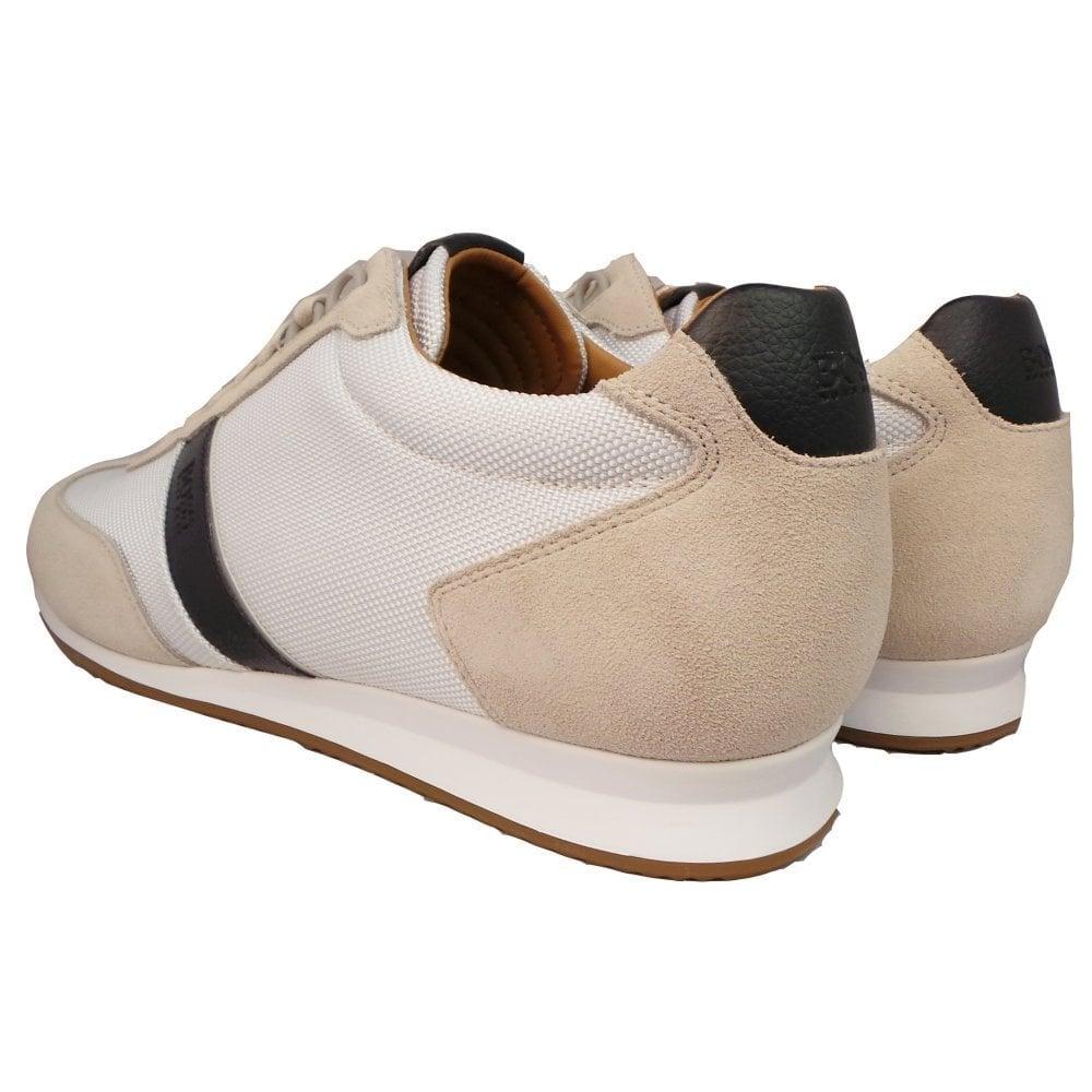 Hugo Boss Footwear Orland Lowp Nylon//Suede White Trainer 7