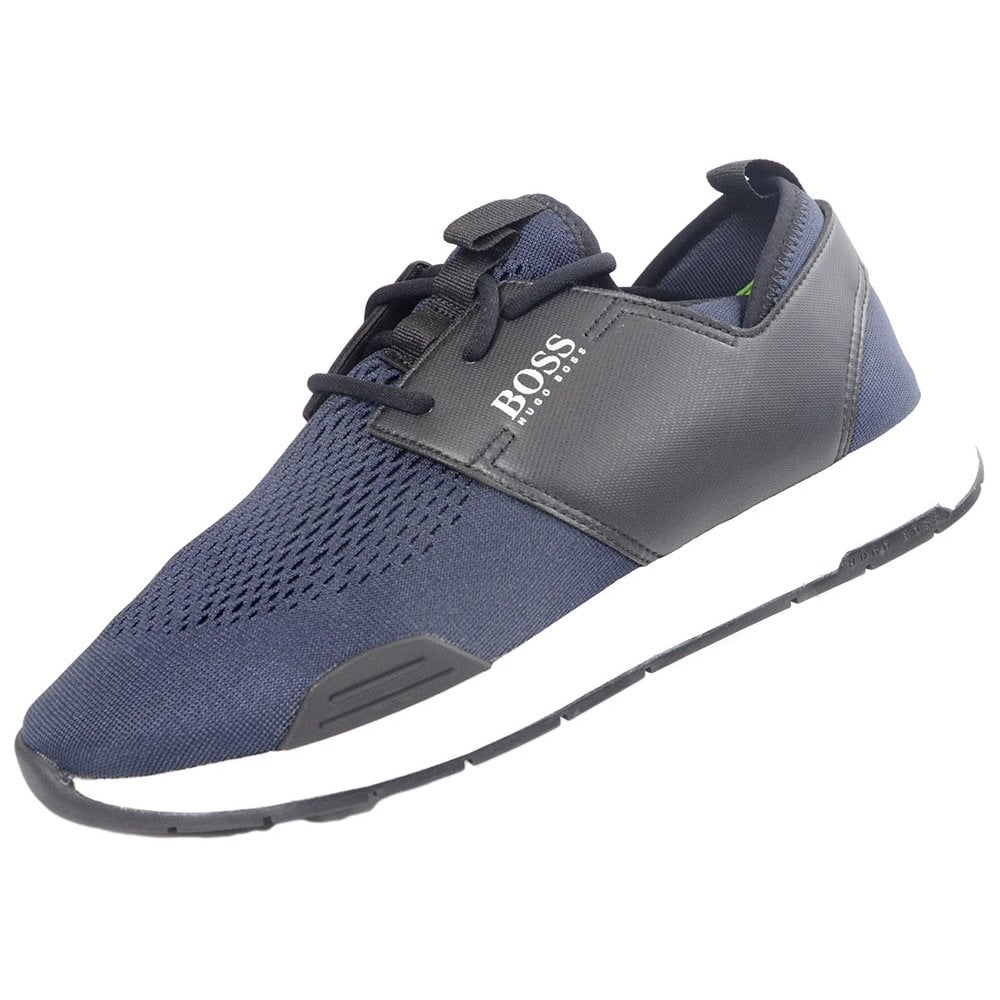 shop for best selection of 2019 find workmanship Hugo Boss Footwear Titanum_Runn Mesh/Leather Navy Patterned Trainer