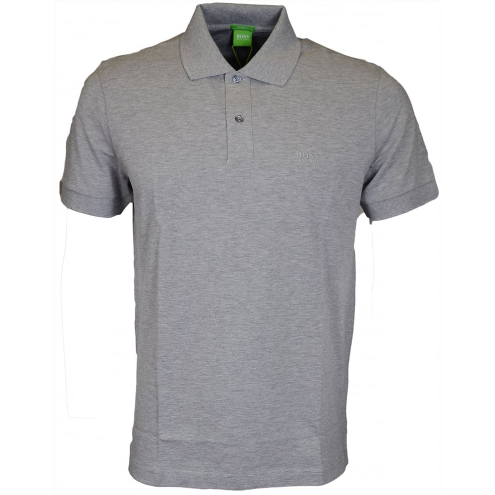 b98673de C-Firenze Plain Embroidered Grey Polo - Clothing from N22 Menswear UK