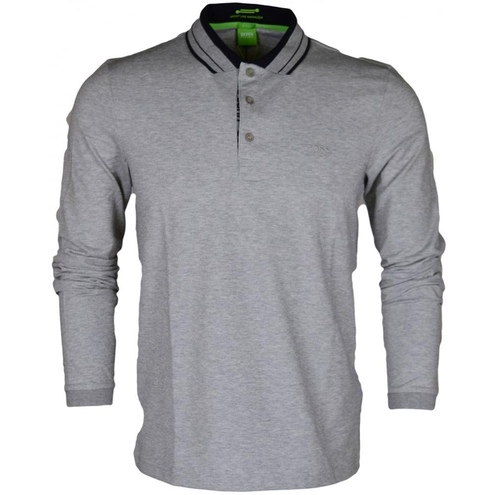 9e460efc6 Pleesy Slim Fit Long Sleeve Grey Polo - Clothing from N22 Menswear UK