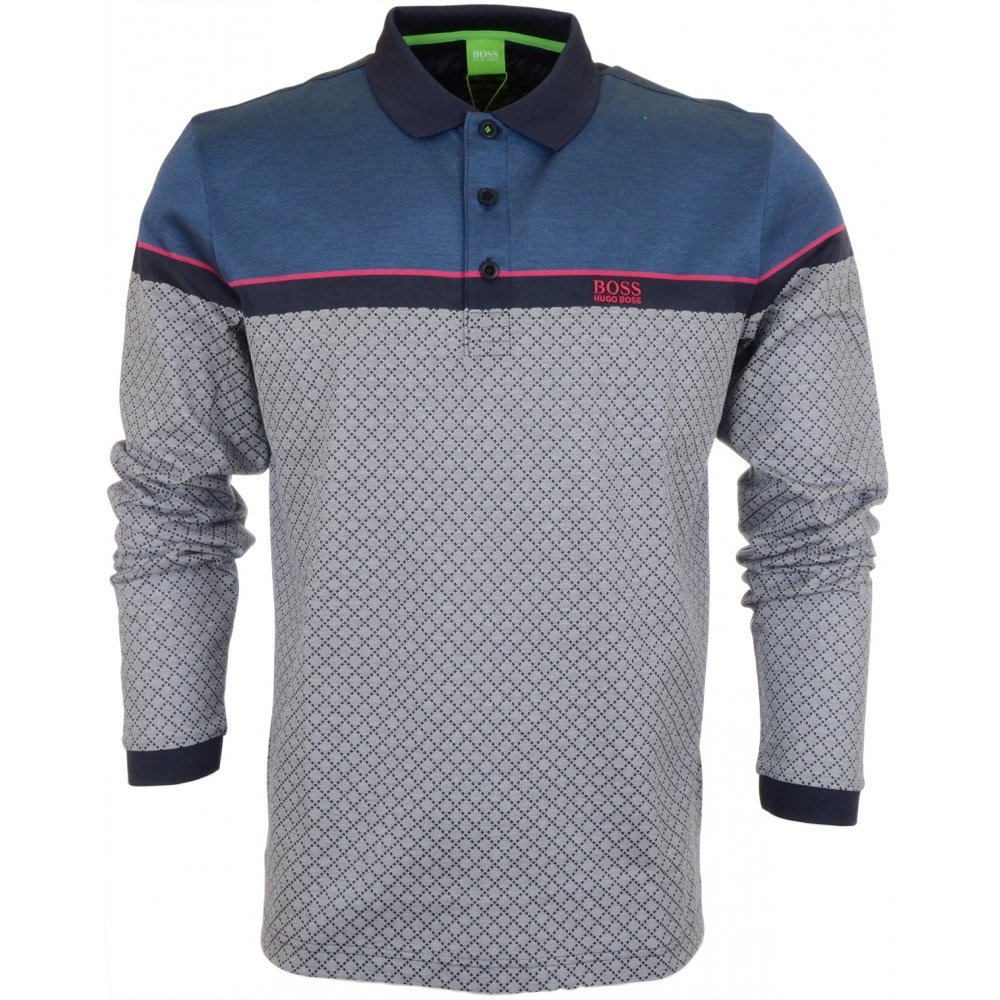 9135ccd6 Plisy 1 Modern Fit Long Sleeve Blue Polo - Clothing from N22 Menswear UK