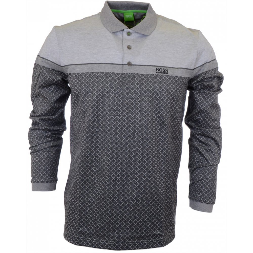 591d32181e5 Plisy 1 Modern Fit Long Sleeve Grey Polo - Clothing from N22 Menswear UK