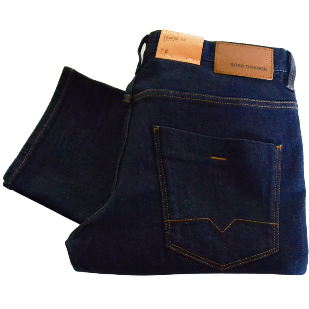 search for newest world-wide free shipping offer discounts Orange 63 Goodness Slim Fit Dark Wash Jeans