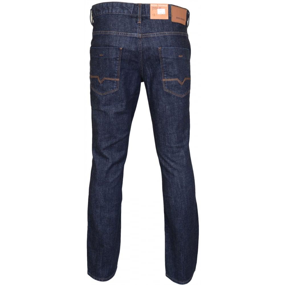 in stock comfortable feel boy Orange 63 Orange Pure Slim Fit Dark Wash Jeans