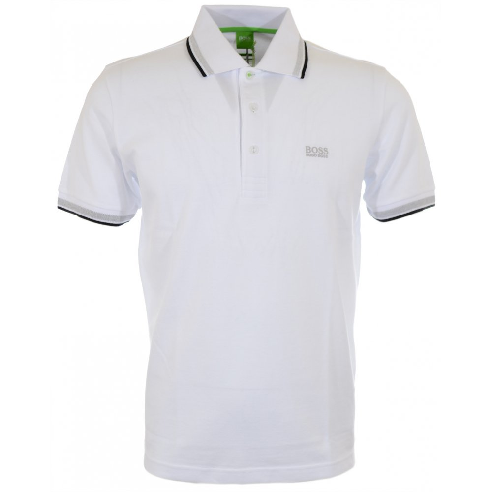 955776414 Hugo Boss Paddy Regular Fit Pique White Polo - Clothing from N22 ...