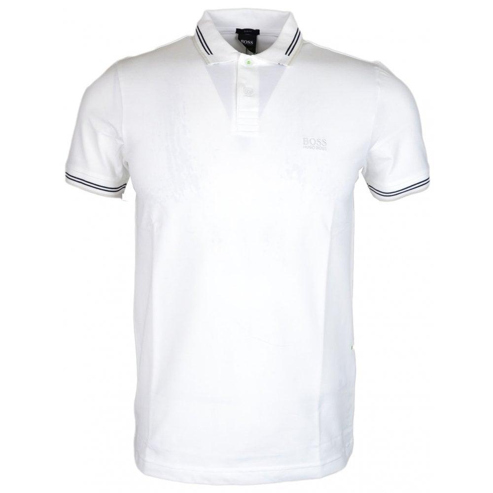 3b94cf658 Hugo Boss Paul Slim Fit Stripe White Polo - Clothing from N22 ...