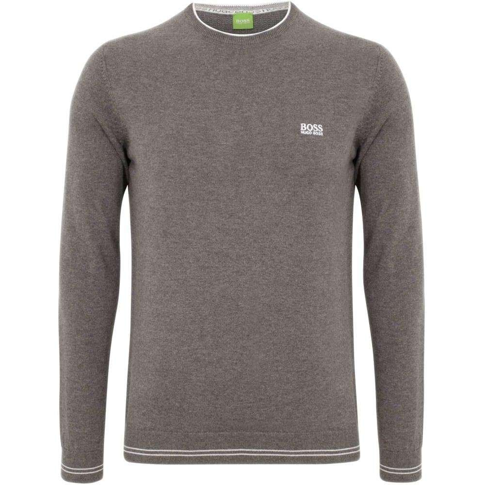 b1e4f67d1052 Hugo Boss Rime Cotton Blend Regular Fit Grey Jumper - Clothing from ...