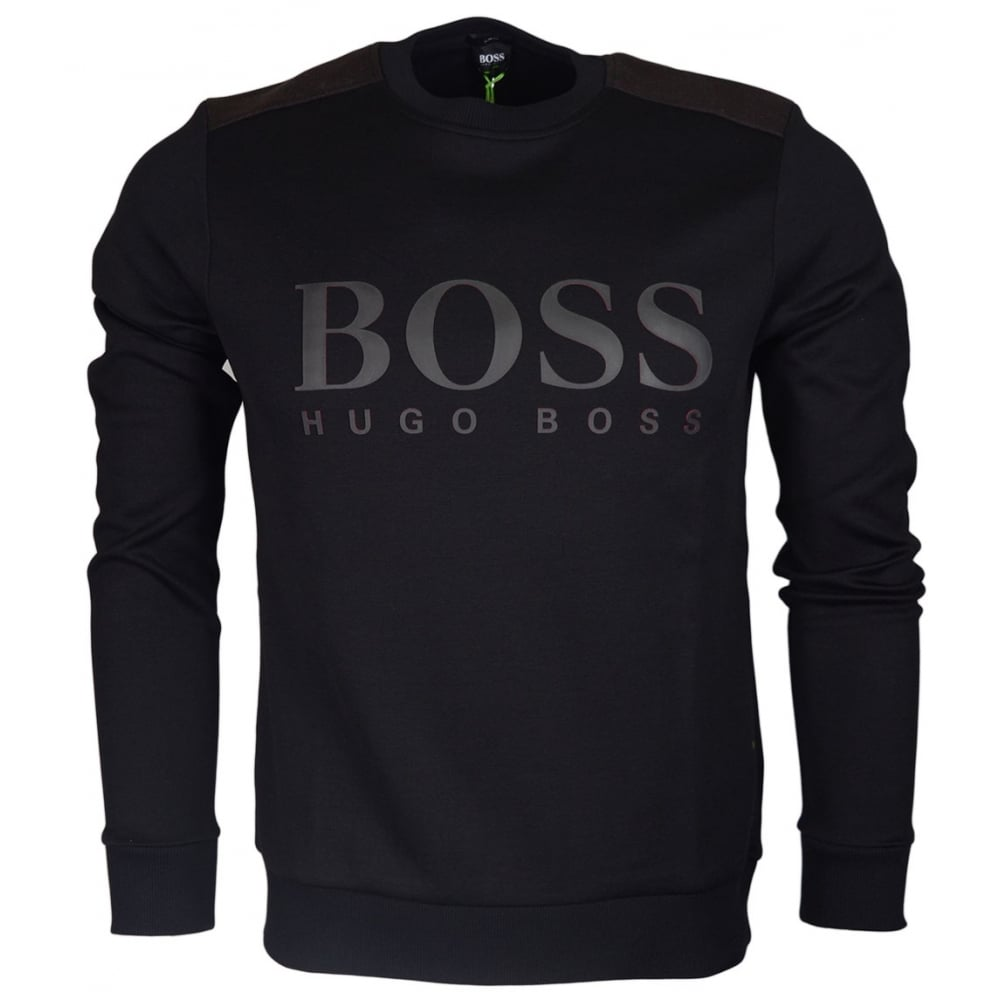 49b16afc32 Hugo Boss Salbo Slim Fit Black Sweatshirt - Clothing from N22 ...