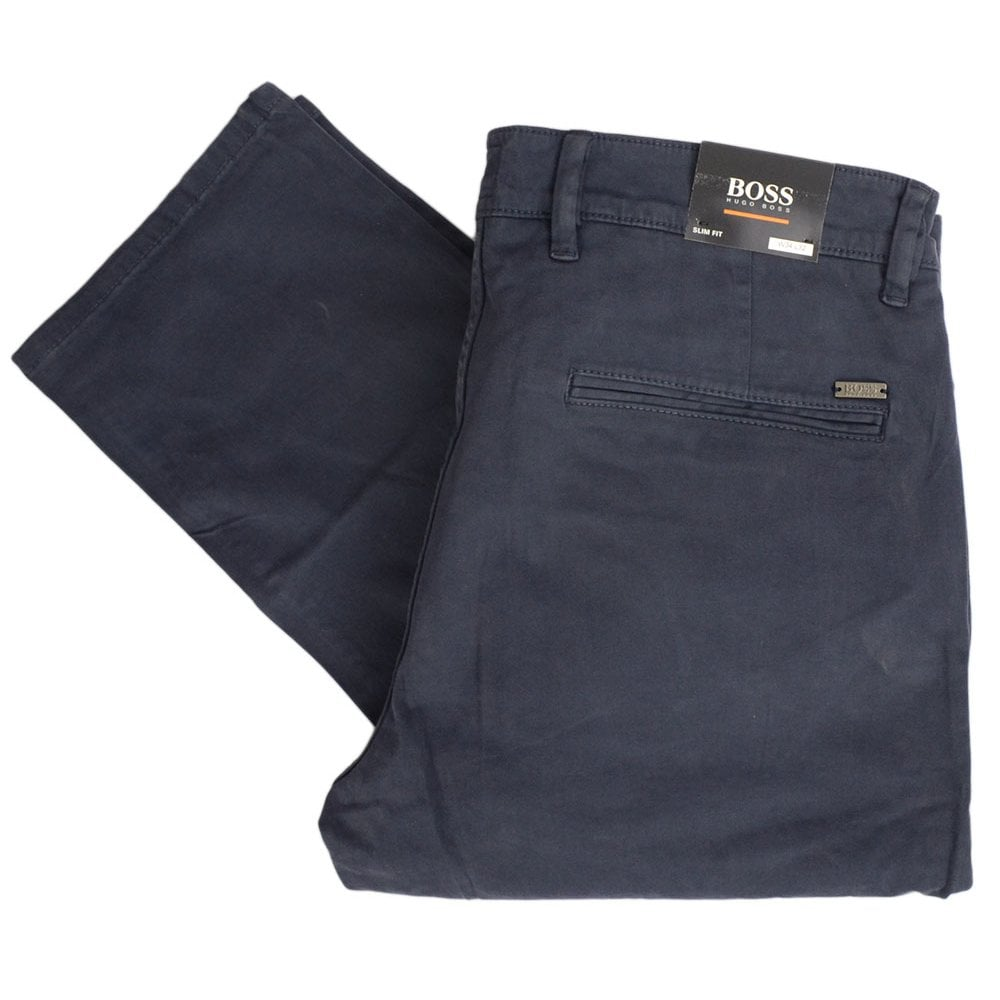 official store special sales high quality guarantee Hugo Boss Schino-Slim Fit Navy Chino