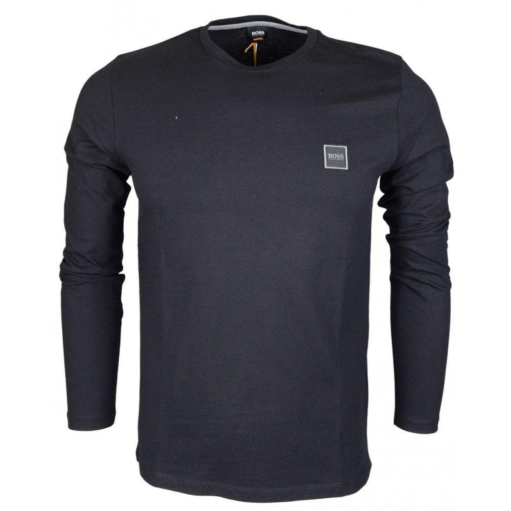 b80868ea Hugo Boss Tacks Plain Black Long Sleeve T-Shirt - Clothing from N22 ...