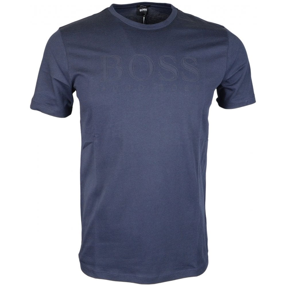 ac5340fb3 Hugo Boss Tiburt 83 Plain Regular Fit Navy T-Shirt - Clothing from ...