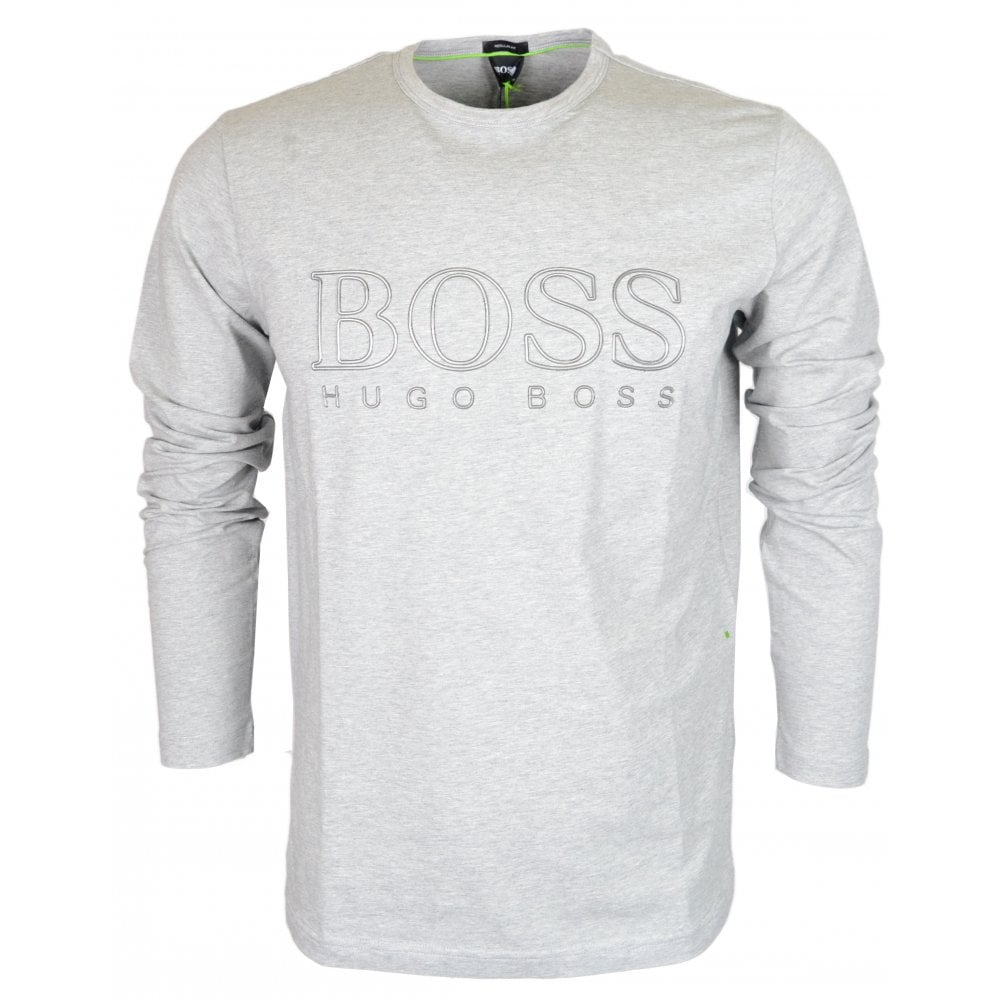 59ff94ab9 Hugo Boss Togn US Cotton Grey Long Sleeve T-Shirt - Clothing from ...