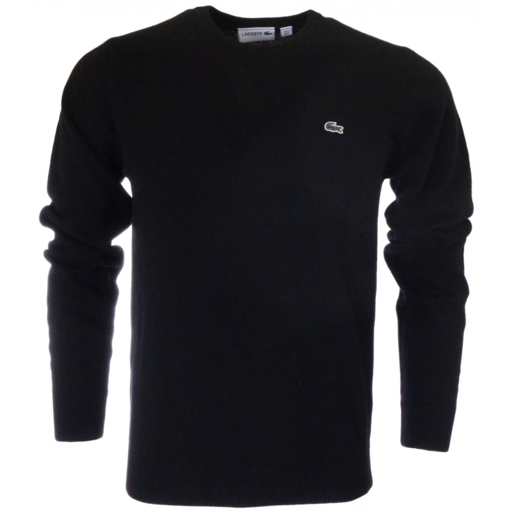lacoste jumper black