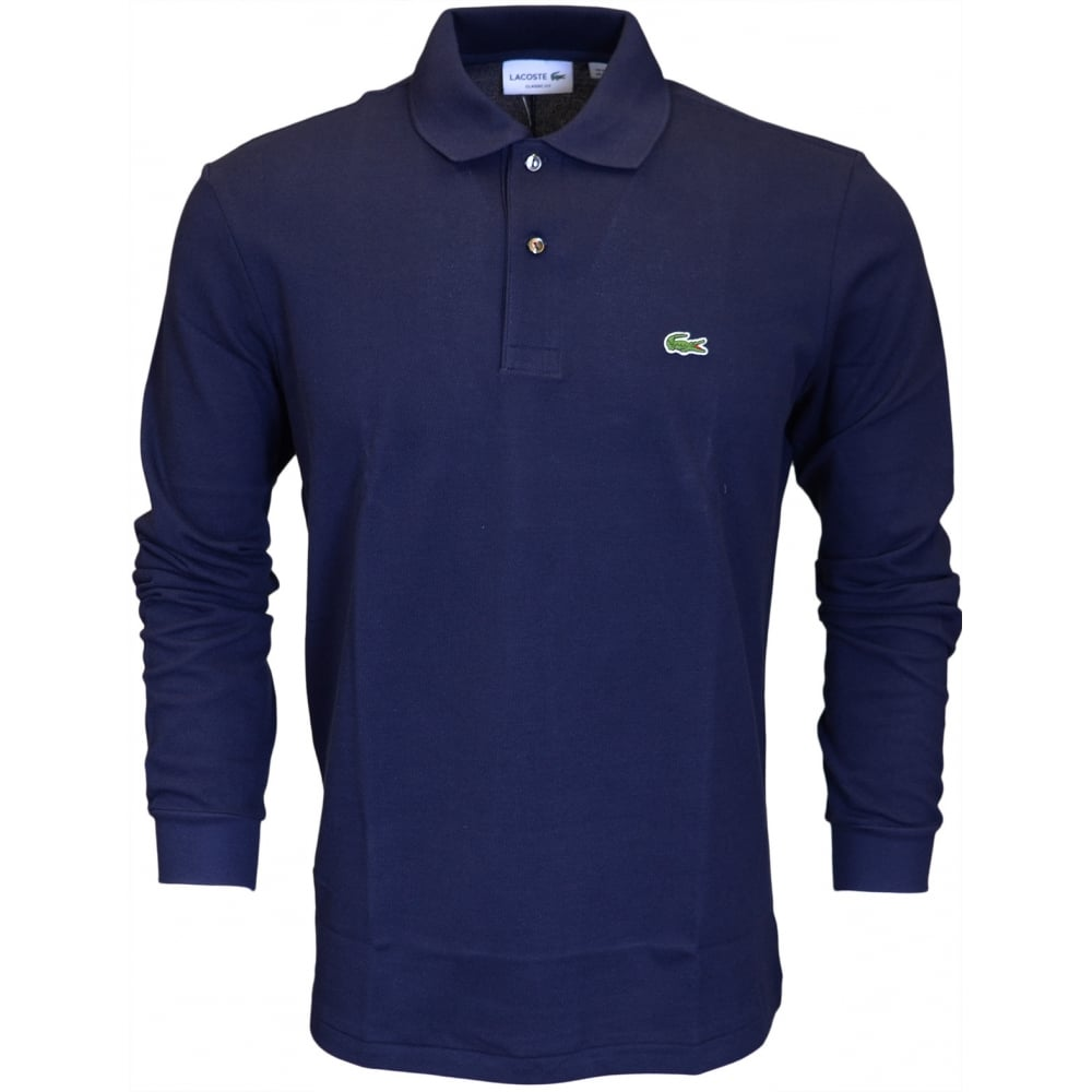 5e4970f1c Lacoste L1312 Long Sleeve Pique Navy Polo - Clothing from N22 ...