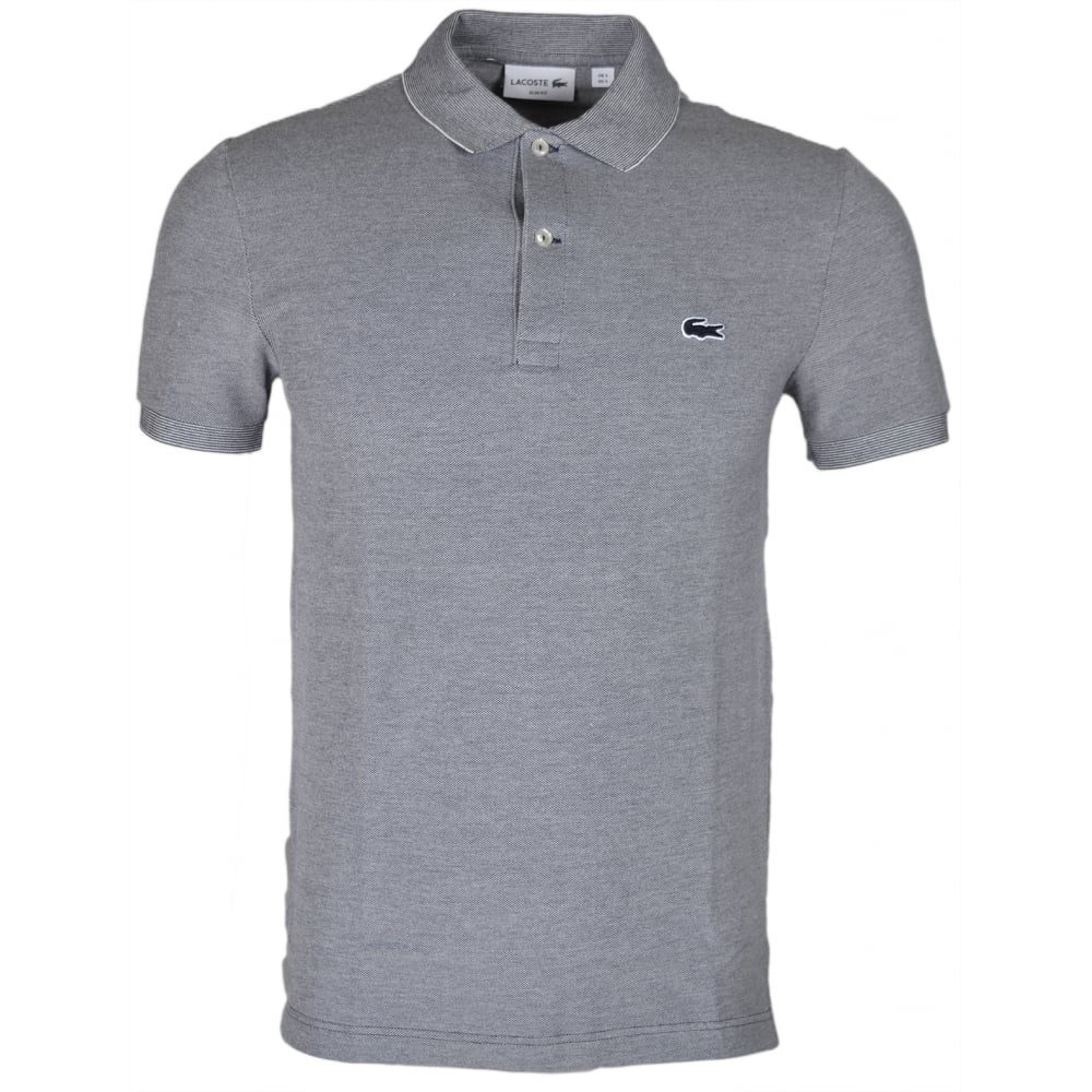 69e5cec2670 Lacoste PH6633 Slim Fit Marine Grey Polo - Clothing from N22 Menswear UK