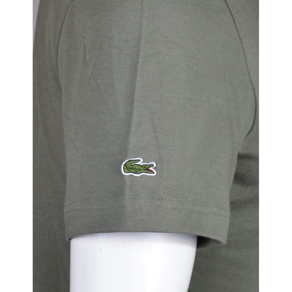 beab904a Lacoste TH1895 Round Neck Regular Fit Olive T-Shirt