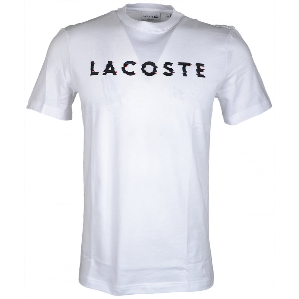 c4338651 Lacoste TH1895 Round Neck Regular Fit White T-Shirt