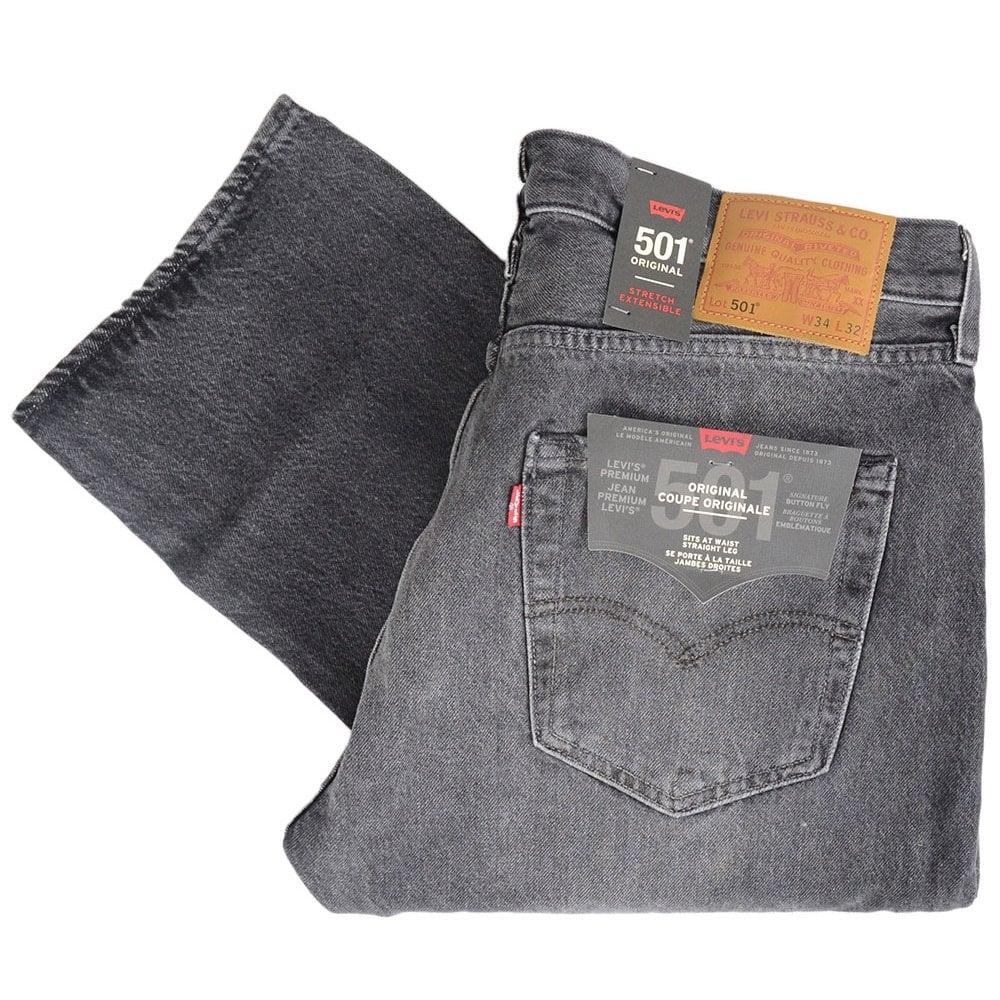 501 Original Grey Straight Fit Jeans