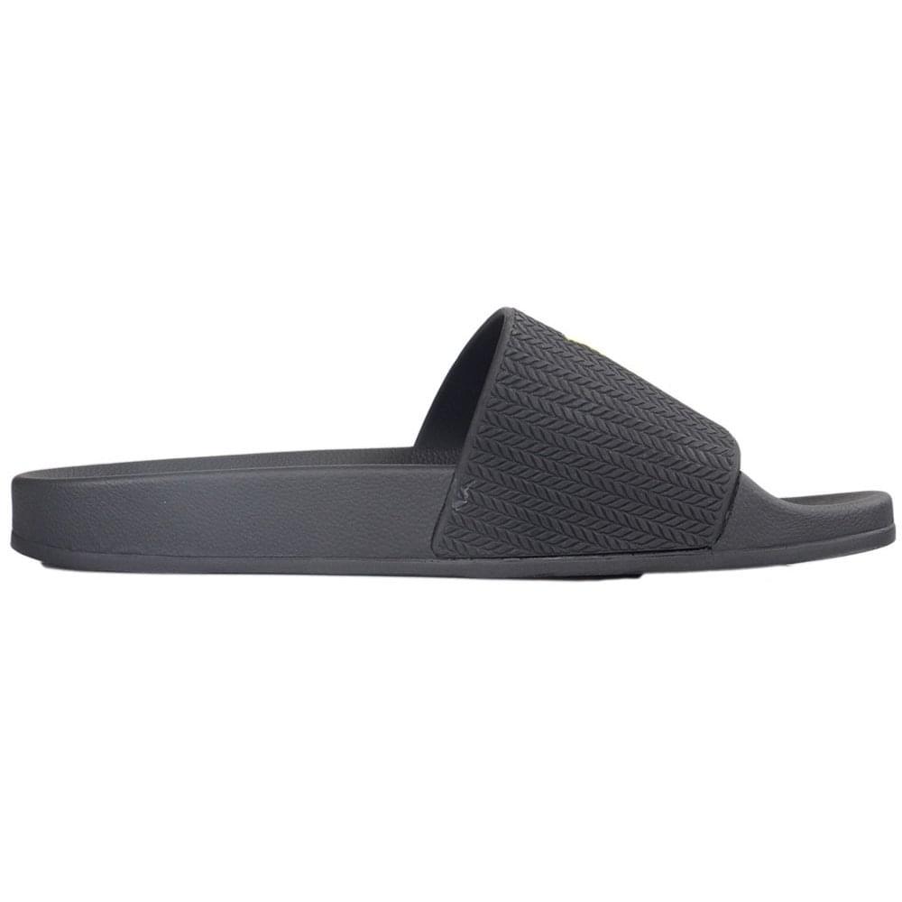 271ac794101913 Lyle   Scott Thomson True Black Sliders - Footwear from N22 Menswear UK