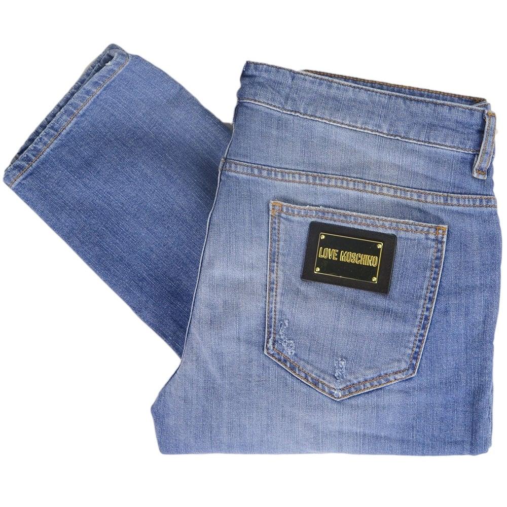 79e3fac79b Love Moschino MQ4218JS2194 Love Stone Wash Slim Fit Blue Jeans ...