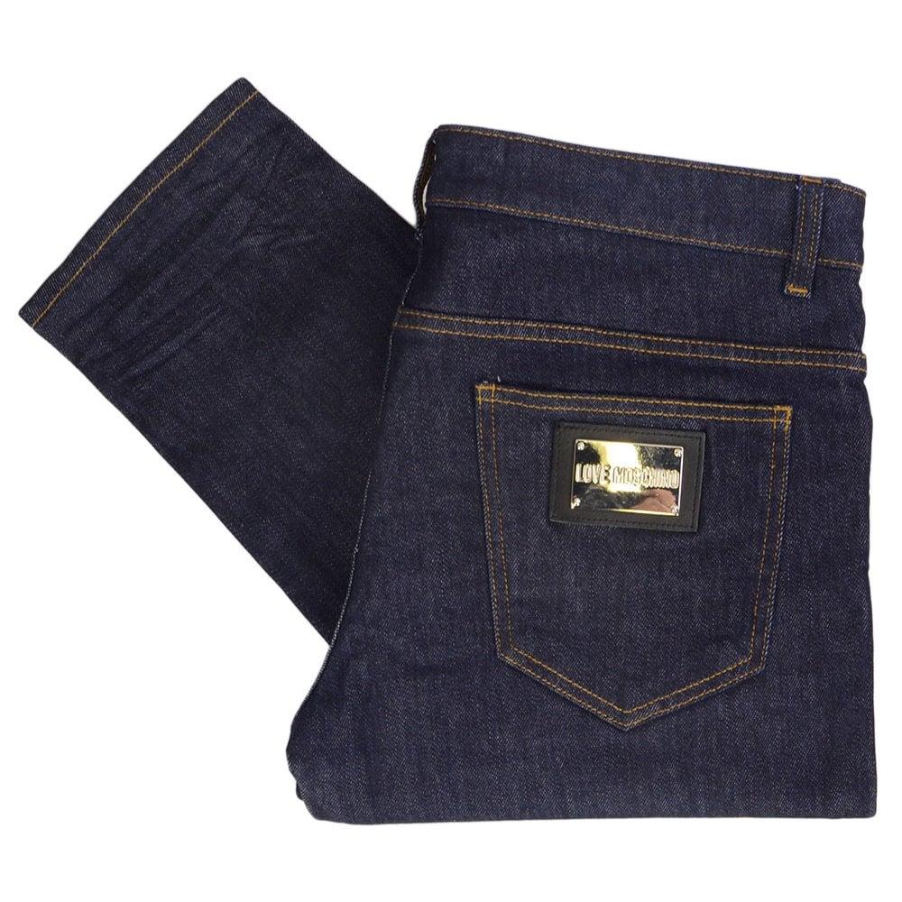 706db051e6 Love Moschino MQ4218JS2762 Love Dark Wash Raw Denim Slim Fit Jeans