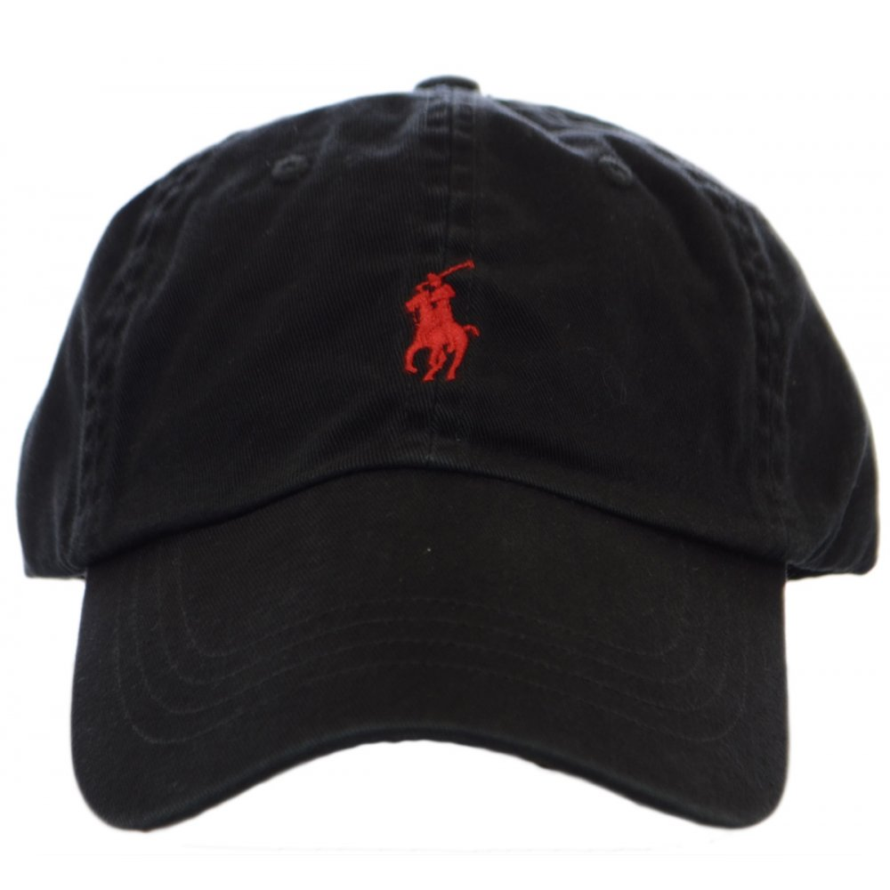 Polo Ralph Lauren Black Polo Player Baseball Cap - Accessories from ... 891305ad90b