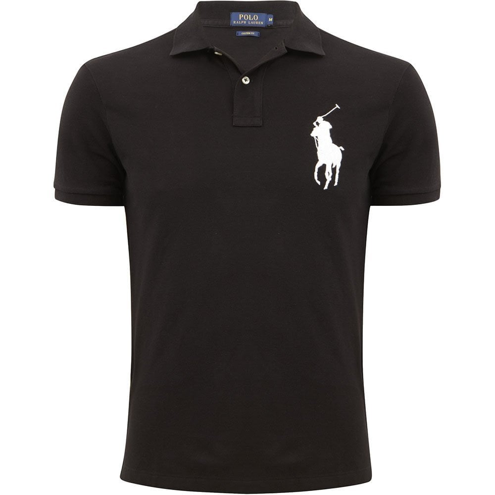 best loved on sale special sales Polo Ralph Lauren Cotton Big Logo Black Polo Shirt