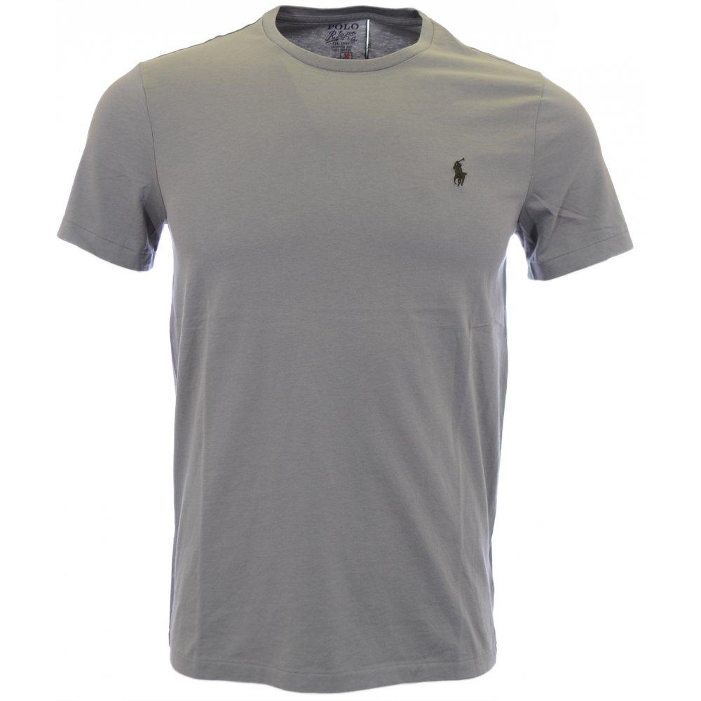 Grey Ralph Custom Fit Crew Shirt Neck Museum Lauren Plain T Polo rhCQdts