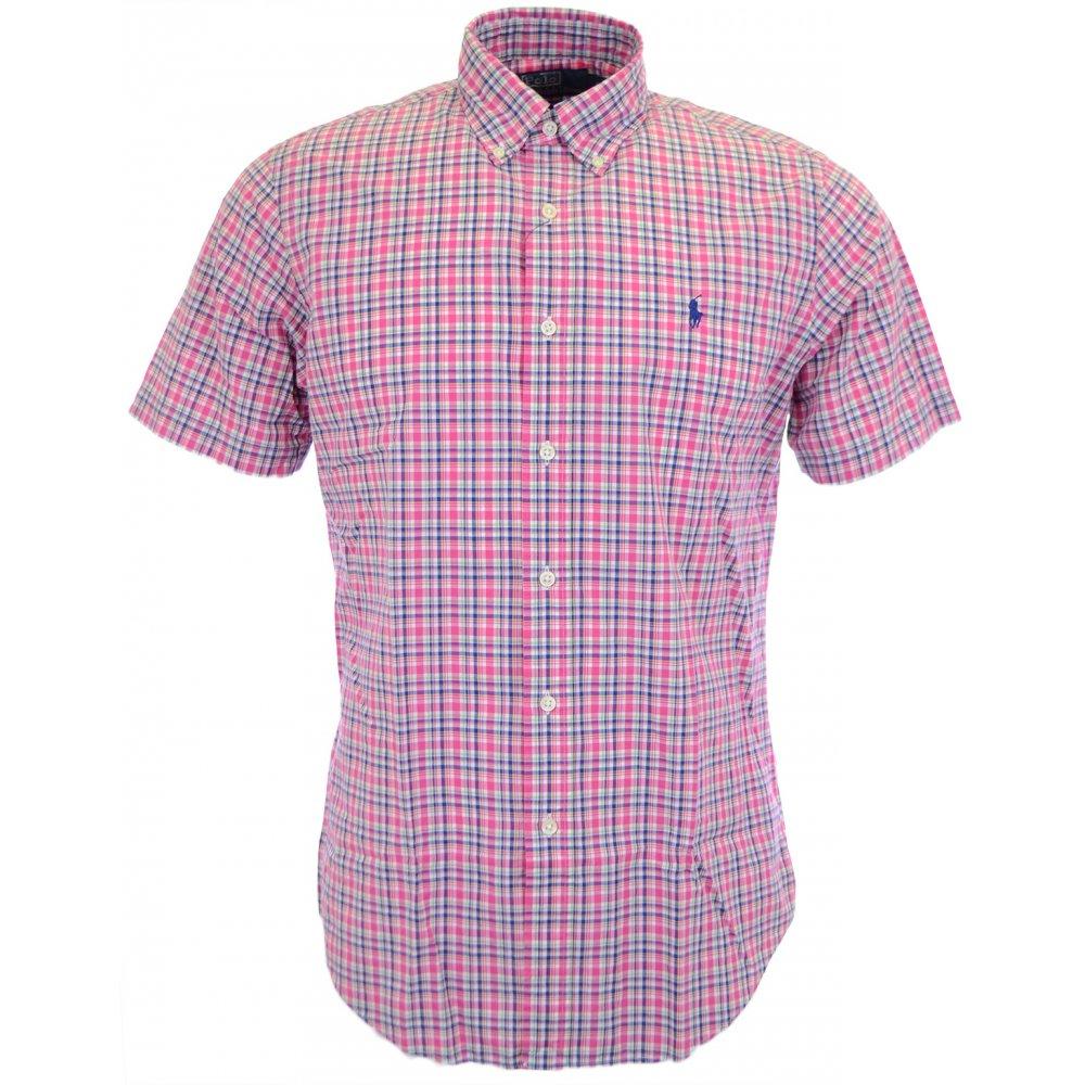 4414293e8da Polo Ralph Lauren Custom Fit Short Sleeve Checkered Shirt