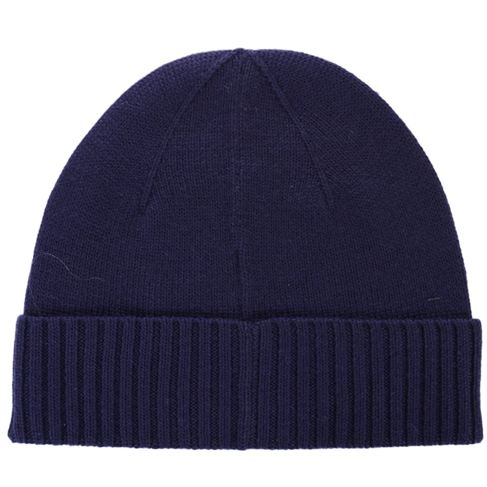 Polo Ralph Lauren Folded Merino Wool Hunter Navy Beanie Hat ... 1cb3f731f2a