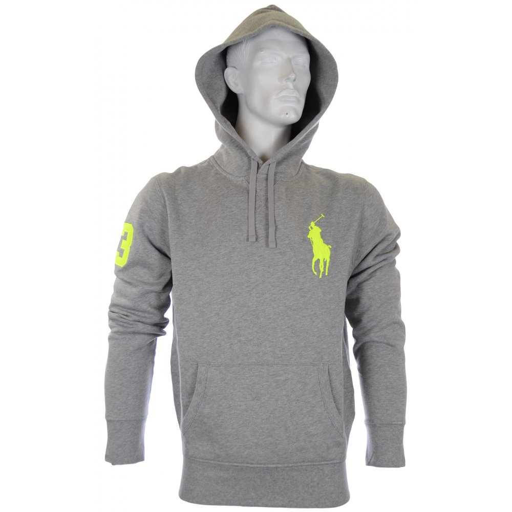 50ca68a1 Polo Ralph Lauren Grey Big Polo Player Hoodie - Clothing from N22 ...